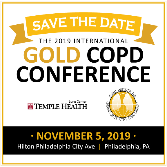 Save the Date. GOLD COPD Conference, November 5, 2019, Philadelphia, PA