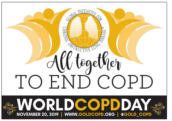 All Together to End COPD. World COPD Day. November 20, 2019